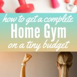 Get A Complete Home Gym on a Tiny Budget Pinterest Pin
