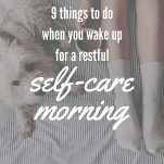 Self-care Morning Pinterest Pin