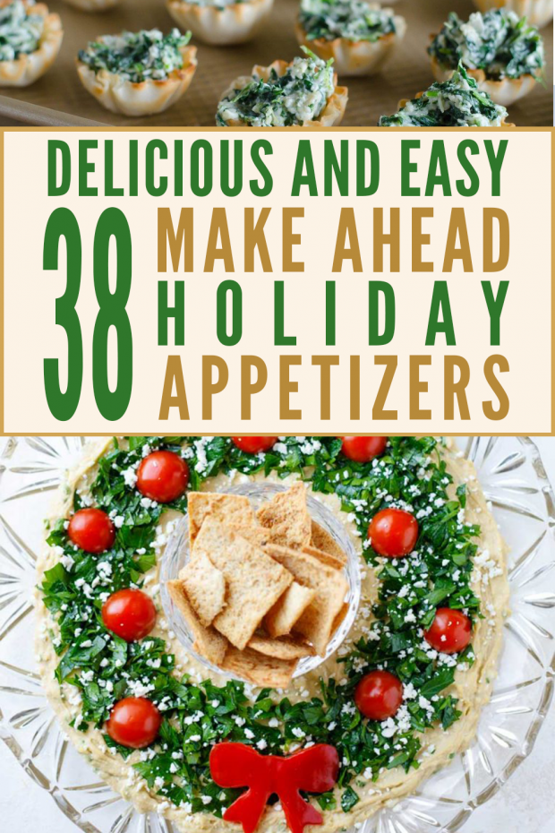 holiday appetizers pinterst pin