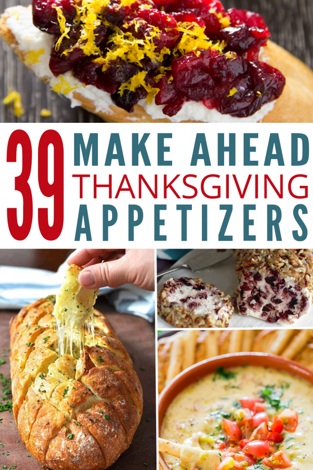 Make ahead thanksgiving appetizers pin