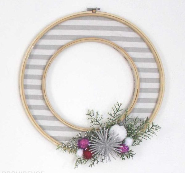 modern diy winter wreaths