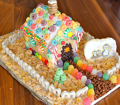 cereal gingerbread house