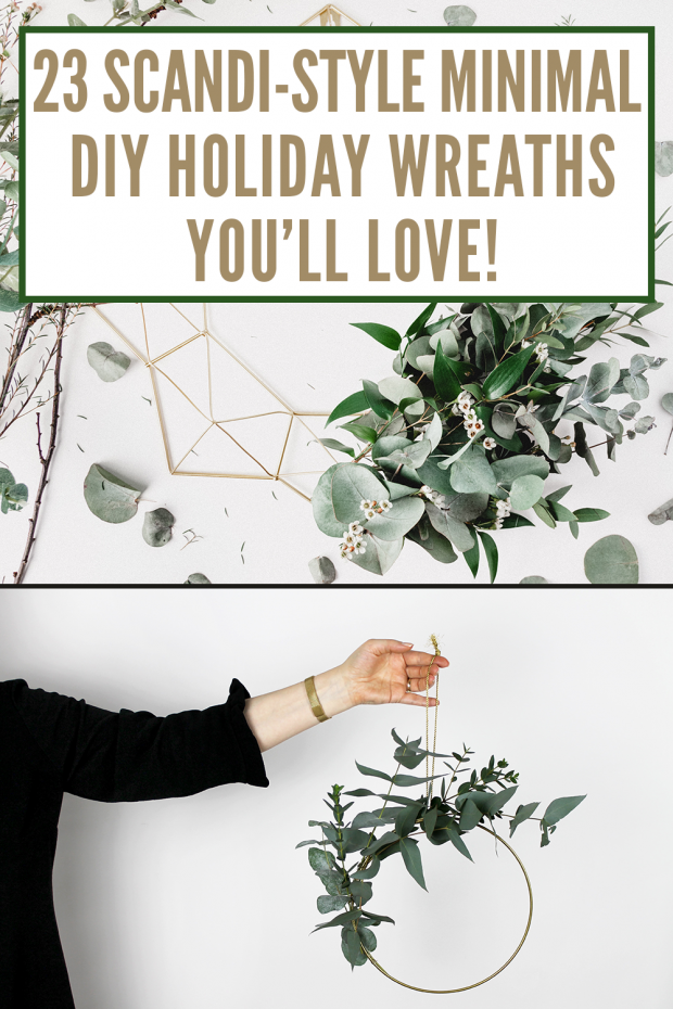 Scandi holiday wreaths