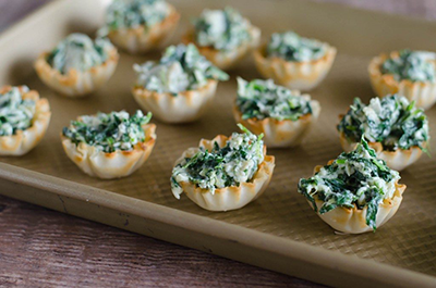 spinach cups holiday appetizer