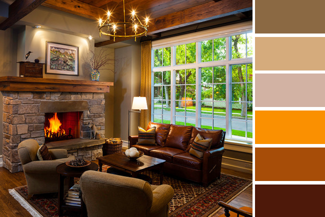 traditional fall decorating color scheme