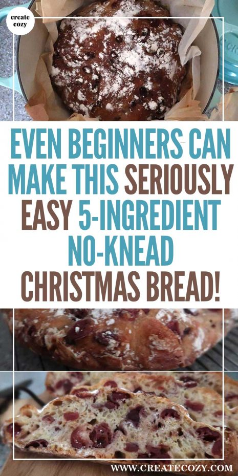 Are you looking for an easy and impressive idea for a Christmas bake recipe? Make your kitchen smell like Christmas with this awesomely simple, no-knead orange and cranberry dutch oven bread is perfect for beginners and more experienced cooks. No knead dutch oven bread recipes are the best way to get into making bread and this festive twist is perfect for the time of year.