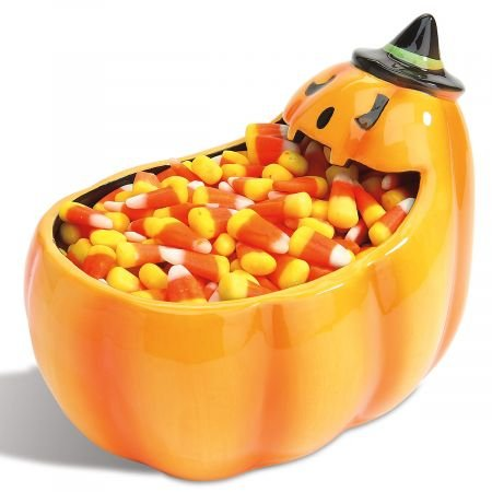 Candy Corn Pumpkin Bowl