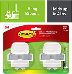 Command Hooks for Brooms and mops