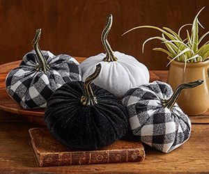 Buffalo check decorative pumpkins