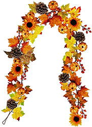 Maple leaf fall garland