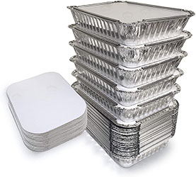 Foil containers for leftovers