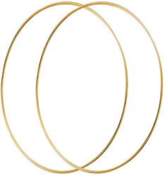 Gold Metal wreath Hoops