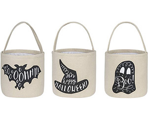 Fabric Trick or Treat buckets