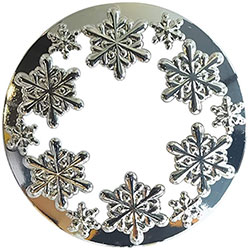 Snowflake Candle Topper