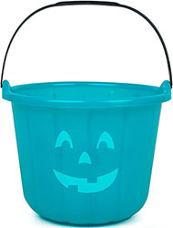 Teal trick or treat bucket