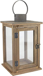Wood lantern for candles