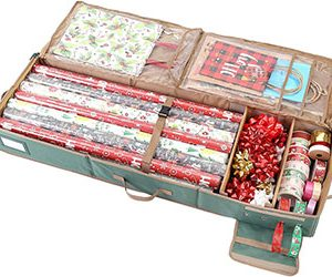 Wrapping Paper Under Bed Storage