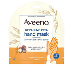 Aveeno Repairing CICA Hand Mask with Prebiotic Oat and Shea Butter for Extra Dry Skin