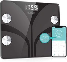 Bathroom BMI Weight Scale with Smartphone App