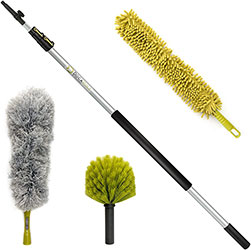High Reach Dusting Kit with 5-12 Foot Extension Pole