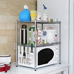 Kitchen Microwave Oven Rack Shelving Unit