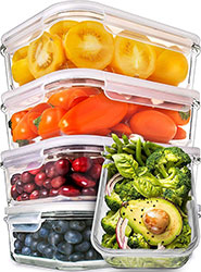 Naturals Glass Meal Prep Containers
