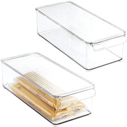 Plastic Food Storage Container Bin with Lid and Handle