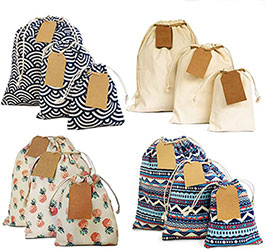 Reusable Stretchy Fabric & Eco Friendly Gift Bags