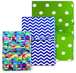 Reusable Stretchy Fabric & Eco-Friendly Gift Wrap