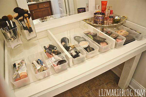make up storage hacks