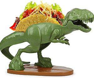 T-Rex Dinosaur Taco Stand Holds 2 Tacos